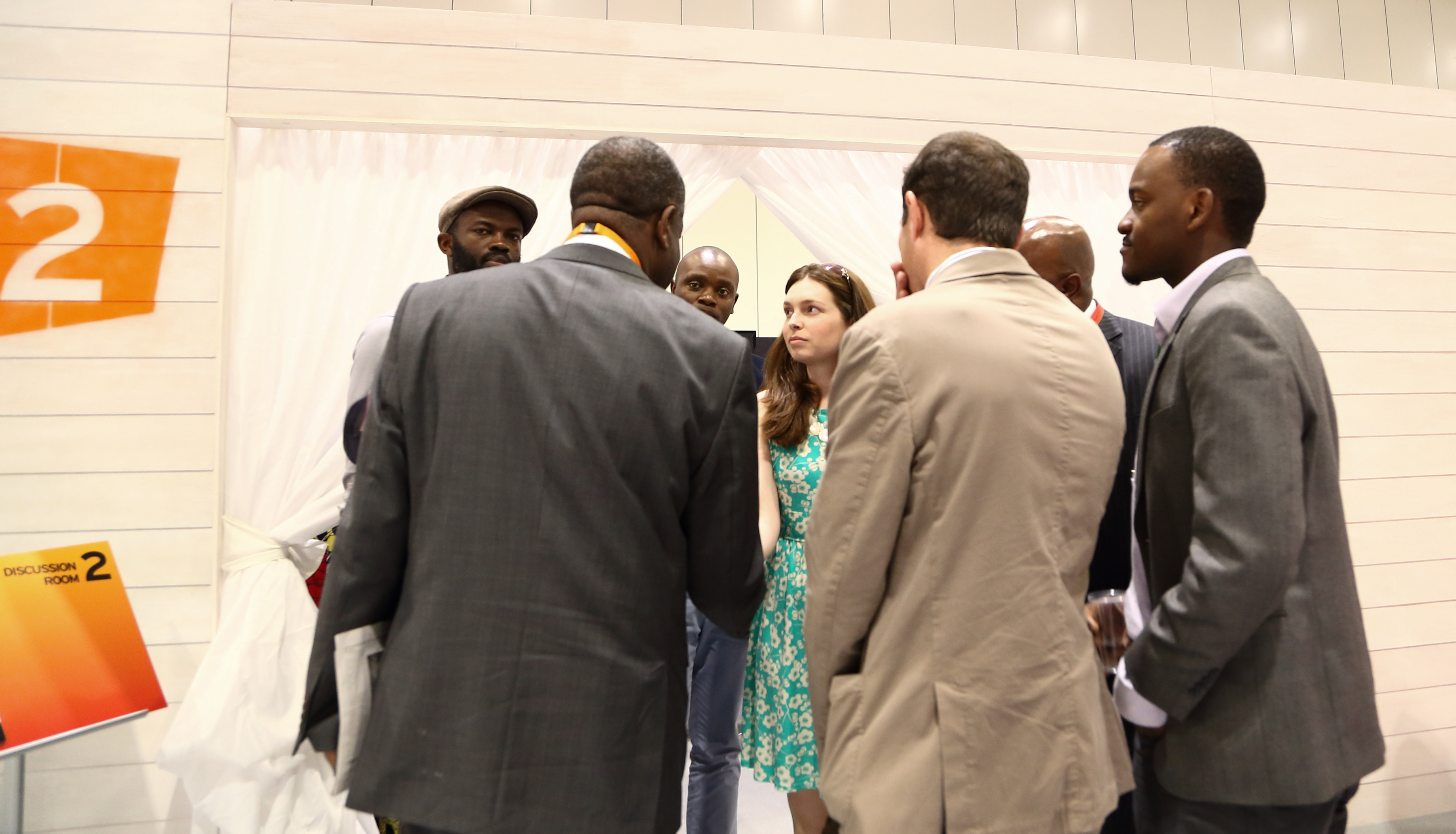 Nicole York of Congo Connect chatting to Dr. Denis Mukwege